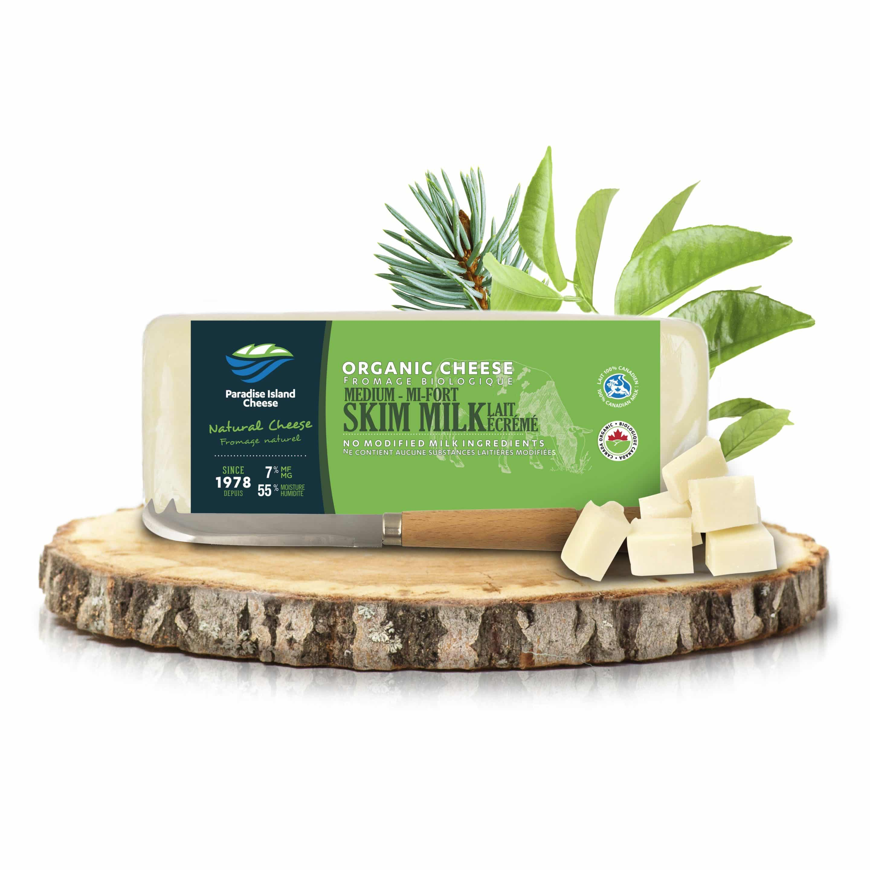 Organic Medium Skim Milk Cheddar